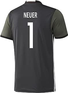Adidas Neuer #1 Germany Away Soccer Jersey Euro 2016 YOUTH (YS)