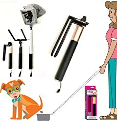 """Catch-a-caca: The Pooper Catcher & Scooper. It s Compact, Portable, Light-Weight & Easy to Use.Totally Clean & Adjust Reach from 9"""" to 33"""". Small to Large Dogs. Use Any 9"""" Wide Poop Bag."""