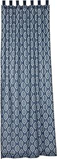VHC Brands Coastal Window Paloma Blue Tab Top Curtain Panel, 108