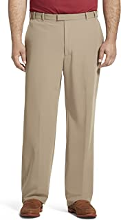 Men's Big and Tall Flex Straight Fit Flat Front Pant