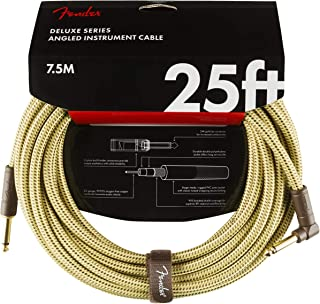 Fender Deluxe Series - Cable con conectores tweed angled (7,5 m)