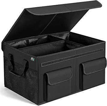 MIU COLOR Car Trunk Organizer with Lid for SUV, Large Capacity, Sturdy Organizer Trunk, Non Slip Bottom: image