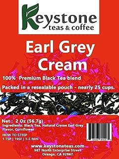 Earl Grey Cream - Loose Leaf Tea, Natural Ingredients: Assam Black tea, Corn flower and natural Earl grey cream flavor-2 Oz (20 Cups) (2 Oz)