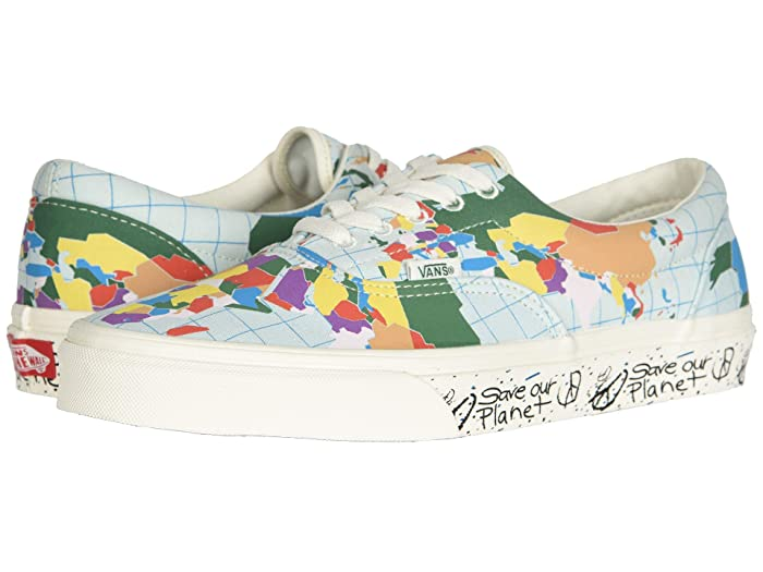 Vans   x Save Our Planet Sneaker Collab ((Save Our Planet Era) Classic White/Multi) Athletic Shoes