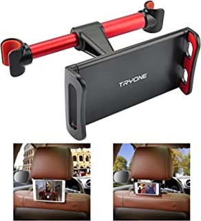 "Car Headrest Mount, Tryone Car Seat Tablet Holder for iPad/Samsung Galaxy Tabs/Amazon Kindle Fire HD/Nintendo Switch/Other Devices 4""-10.1"" (Red)"