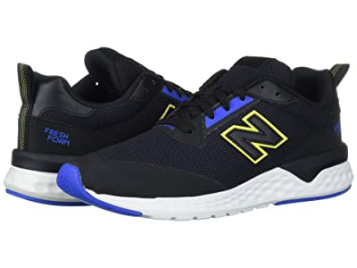 New Balance Classics MS515v2 (Black/Vivid Cobalt/Sulphur Yellow Synthetic/Mesh) Men