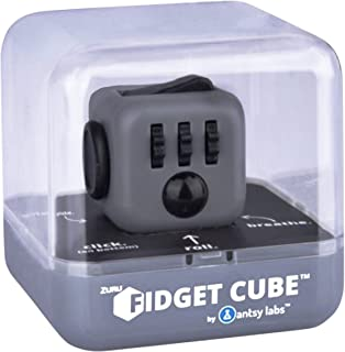 Zuru Fidget Cube by Antsy Labs - Graphite Grey Fidget Cube with Black Accents