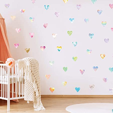 Details about  /26 HEART STICKERS MIXED SIZES FOR NURSERIES WALL ART GIRLS//BOYS KID TOY BOXES