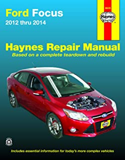 Ford Focus (12-14) Haynes Repair Manual (Does not include information specific to Focus Electric models. Includes thorough vehicle coverage apart from the specific exclusion noted)