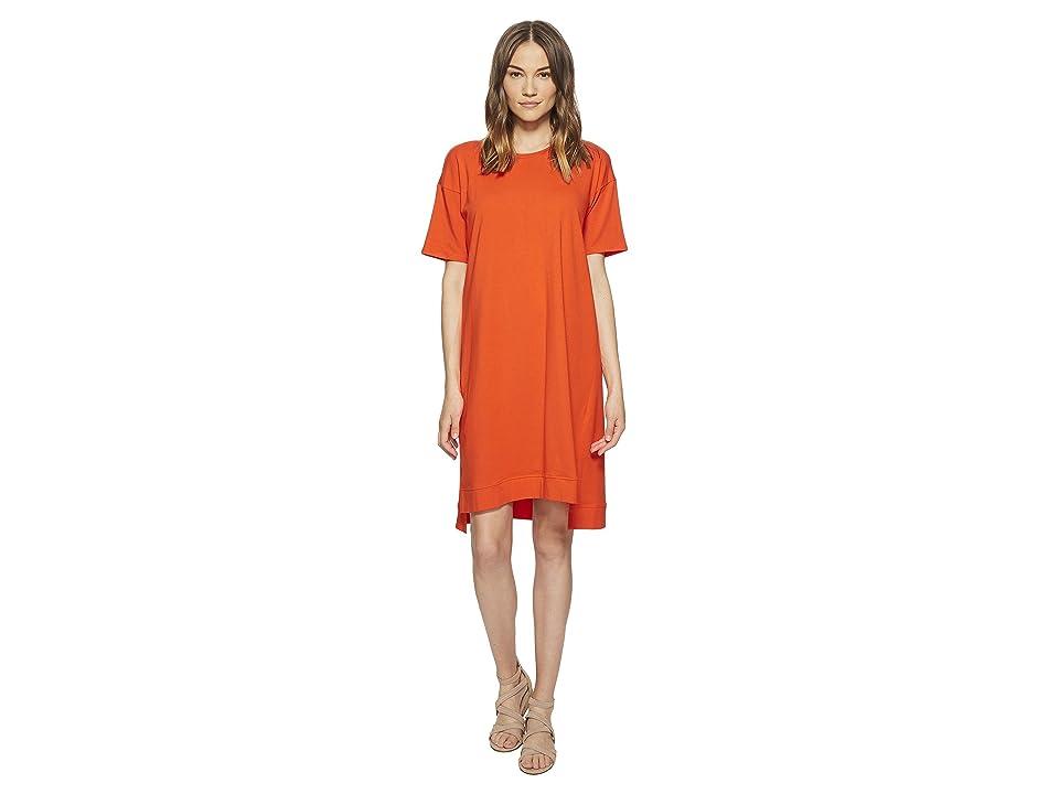 Eileen Fisher Organic Cotton Jersey A-line Dress (Hot Red) Women