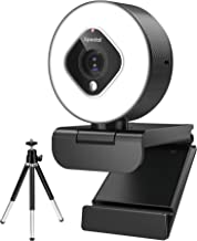 Spedal Streaming Webcam with Light, 1080P Autofocus Zoom Camera with Microphone, OBS, YouTube, Skype, Twitch Compatible, F...