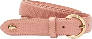Lacoste Women's Chantaco Engraved Round Buckle Belt