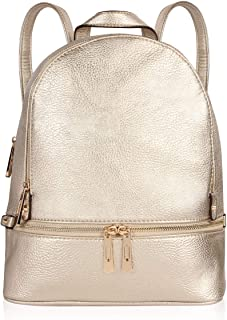 Classic Vegan Leather Causal Fashion Backpack - School Book Bag Light Travel Luggage Diaper Bag
