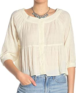 Free People Women's Sea to Shore Blouse (Ivory, X-Small)