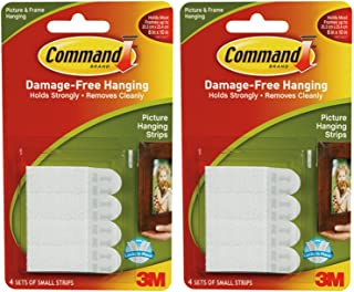 4 x 3M Command Small Picture Strips Set Of 4 Strips (16 sets Total)