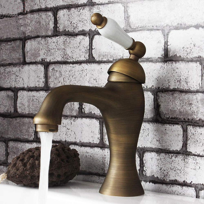 Waschbecken Wasserhahn drehbar Antik Messing ein Loch Einhand Ein Loch 1