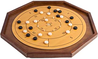 Crokinole Board Game Table - 26 inch - Checkers on Reverse Side