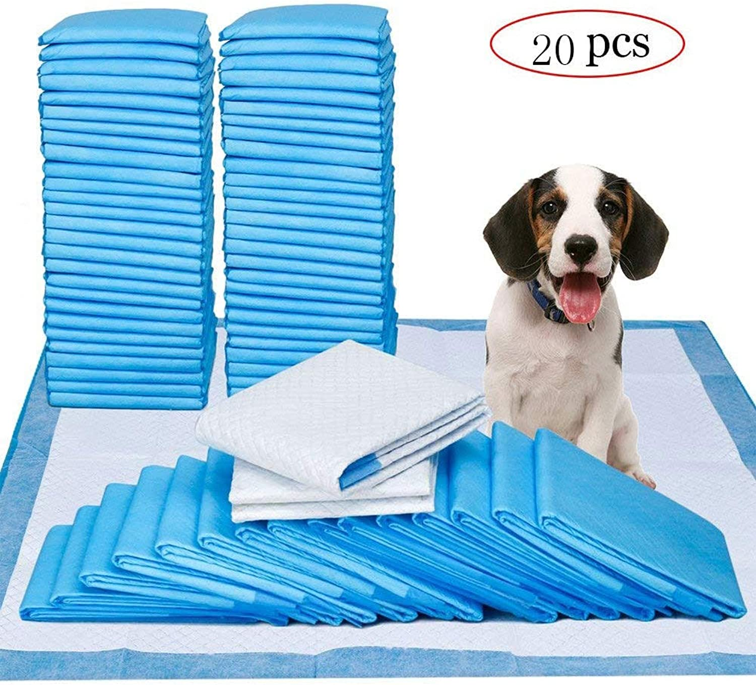 Puppy Dog Training Potty Pee Piddle Pads,UltraAbsorbent Pet Pee for Puppy Housebreaking (Size   23 x35 Pack of 20)