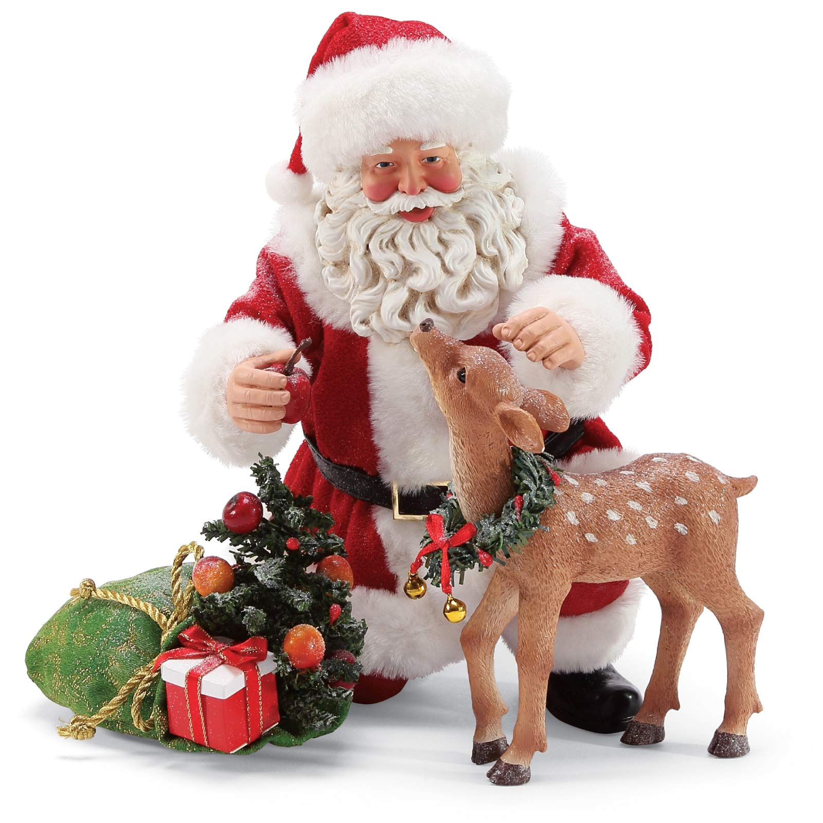 Image of Beautiful Possible Dreams Santa with Deer Figurine