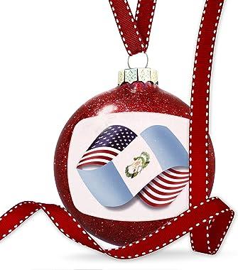 NEONBLOND Christmas Decoration Infinity Flags USA Guatemala Ornament