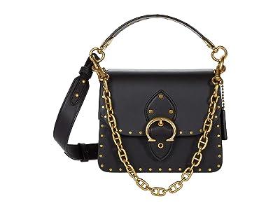 COACH Glovetanned Leather with Border Rivets Beat Shoulder Bag 18