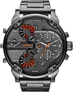 Men's Mr Daddy 2.0 Quartz Stainless Steel Chronograph Watch, Color: Grey (Model: DZ7315)