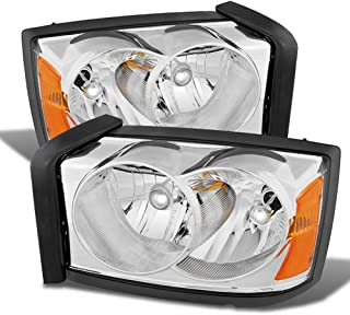 ACANII - For 2005-2007 Dodge Dakota Replacement Headlights Headlamps Pair Driver + Passenger Side 05 06 07