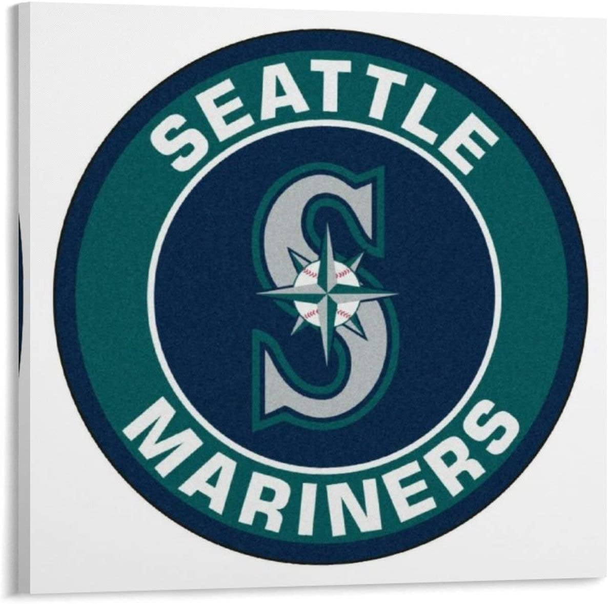 YOSON Seattles-Mariners Wall FINDEMO Art Decor Canvas Painting Poster Print Canvas Art Pictures for Room Home Decor Frame-style112x12inch(30x30cm)