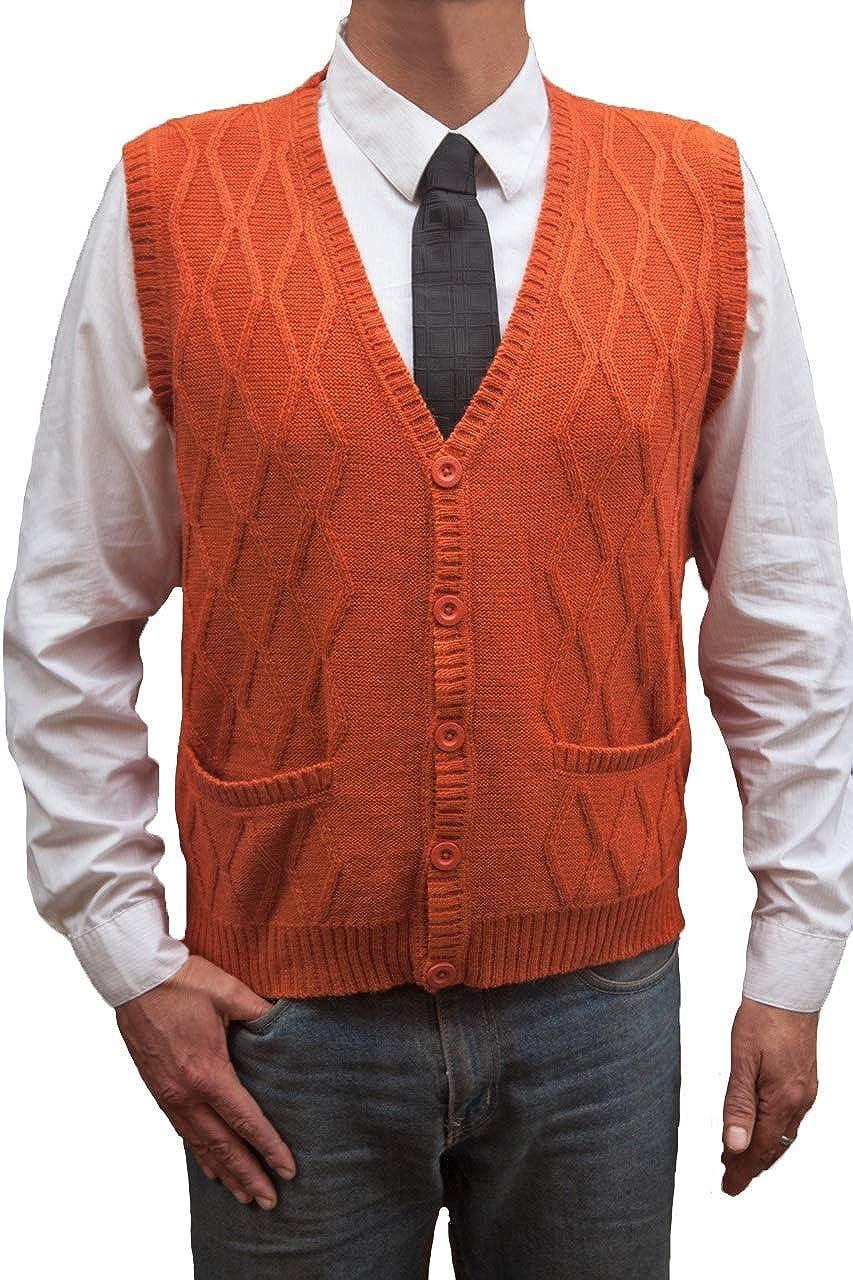 TINKUY Peru - Peruvian Alpaca Wool - Men´s Knitwear V-Neck Jacquard Vest Sweater Waistcoat