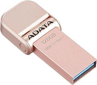ADATA iPhone フラッシュドライブ Lightning USB 3.1(Gen1) 防塵 防水 2年間保証 128GB ローズゴールド AAI920-128G-CRG