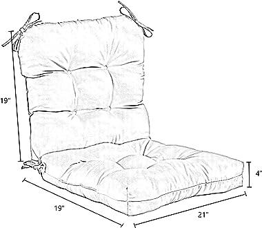 Greendale Home Fashions AZ4808-ROMASTRIPE Tuscan Stripe 38'' x 21'' Outdoor Seat/Back Chair Cushion, 1 Count