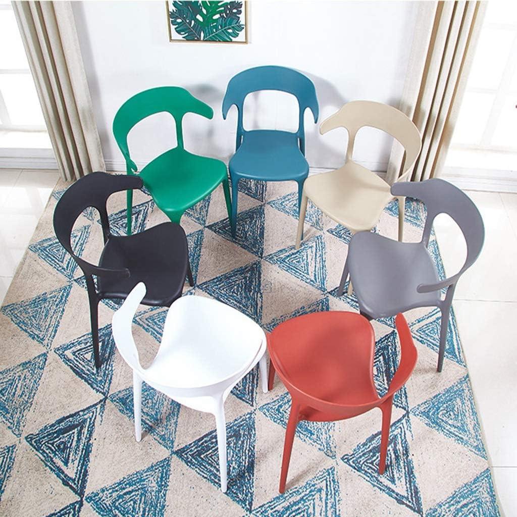 Zyy Ensemble 2 Pièces Chaise De Salle À Manger Plastique, Avec Dossier Fiable Salon Fauteuil Peut Supporter 120Kg (Color : C) H
