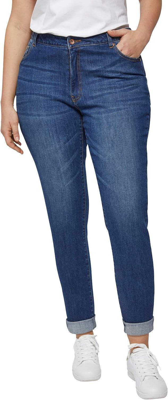 ellos Women's Plus Size Boyfriend Jeans
