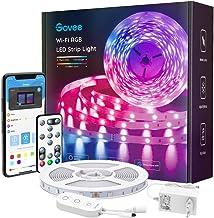 Govee Smart LED Strip, WiFi RGB LED Strip 5m, bestuurbaar via app en afstandsbediening, muzieksynchronisatie, werken met A...