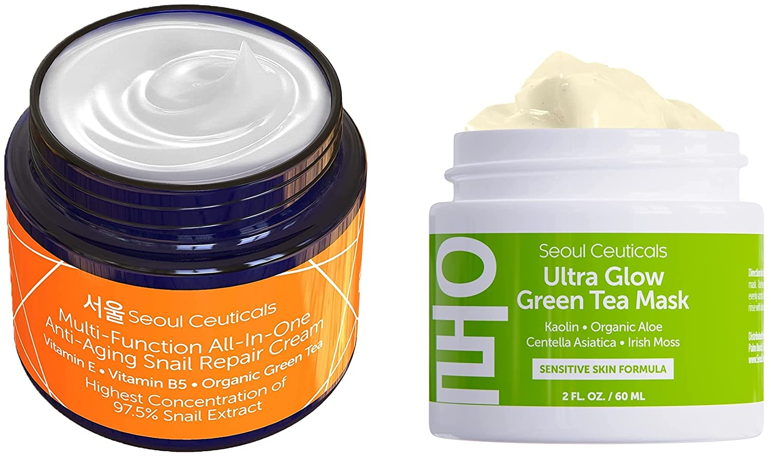 Korean Skin Care Set - Beauty products Contains Kor Mask Green Tea Face + Austin Mall