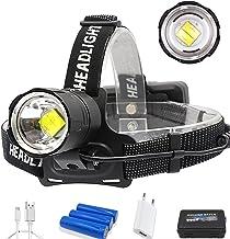 Koplamp 80000LM Krachtige XHP70.2/XHP50 Led koplamp Zoom Hoofd lamp Zaklamp Zaklamp Lanter voor Buiten, Gebruik 3 * 18650 ...