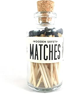 Black Tip Colored Matches. Match Sticks Mini Decorative Glass Bottle. Farmhouse Home Decor. Unique Gifts for her. Best Seller Most Popular Item