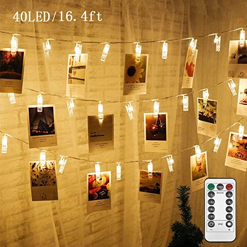 2021 Twinkle high quality Star 16.4 ft 40 Photo Clips String Lights Battery Operated & Remote Control Fairy String lowest Lights with Clips for Hanging Pictures, Cards, Artwork, Warm White sale