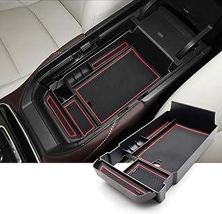 CDEFG CX 30 Aufbewahrungsbox Armlehne Zubehör: Auto Multifunktionaler Mittelkonsole Aufbewahrun Handschuhfach Mazda3 CX30 2020 Center Console Organizer Tray (Rot)