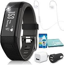 Garmin vivosmart HR+ Activity Tracker (Black) with JBL Under Armour Heart-Rate (White) Headphones Bundle