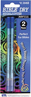 Bible Dry Highlighter Refills (2) Blue Carded