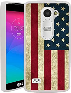 Untouchble Case for LG Leon | LG Power | LG Destiny | Sunset [Flex Max] Flexible TPU Case Slim Fitting Gel Cover with Designs - Vintage American Flag