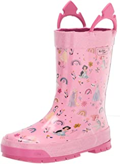 Western Chief Waterproof Printed Rubber Rain Boots with Easy-On Handles girls Rain Boot
