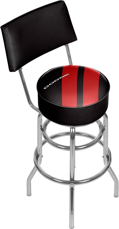 Trademark Gameroom Dodge Bar Swivel Bar Stool with Back - Big Stripe DGE1100-BIG