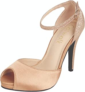 Catwalk Women's Ankle Strap Stilettos