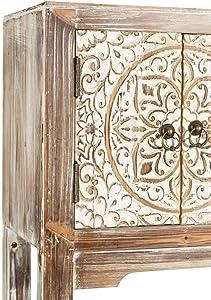 Consola Blanca de Madera con 3 cajones y 4 Puertas rústica para la Entrada Arabia - LOLAhome