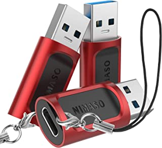 Nimaso 【3個セット】USB Type C 変換 アダプタ USB3.0 高速データ転送 5Gbps Quick Charger 3.0 対応 USB C (メス) to USB A (オス) 変換アダプタ MacBook Pro/Air...