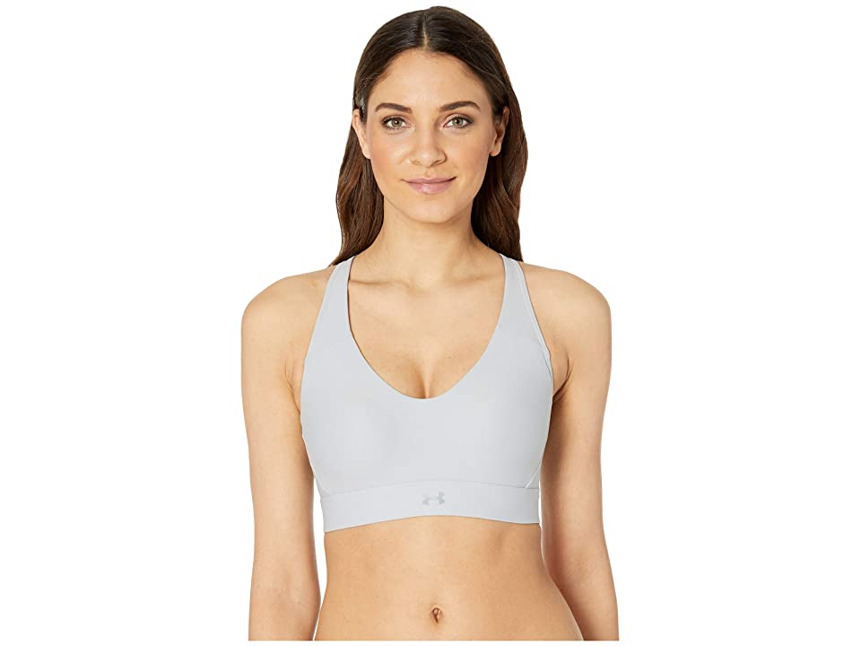 Under Armour Balance Mid Bra (Mod Gray/Coded Blue/Mod Gray) Women