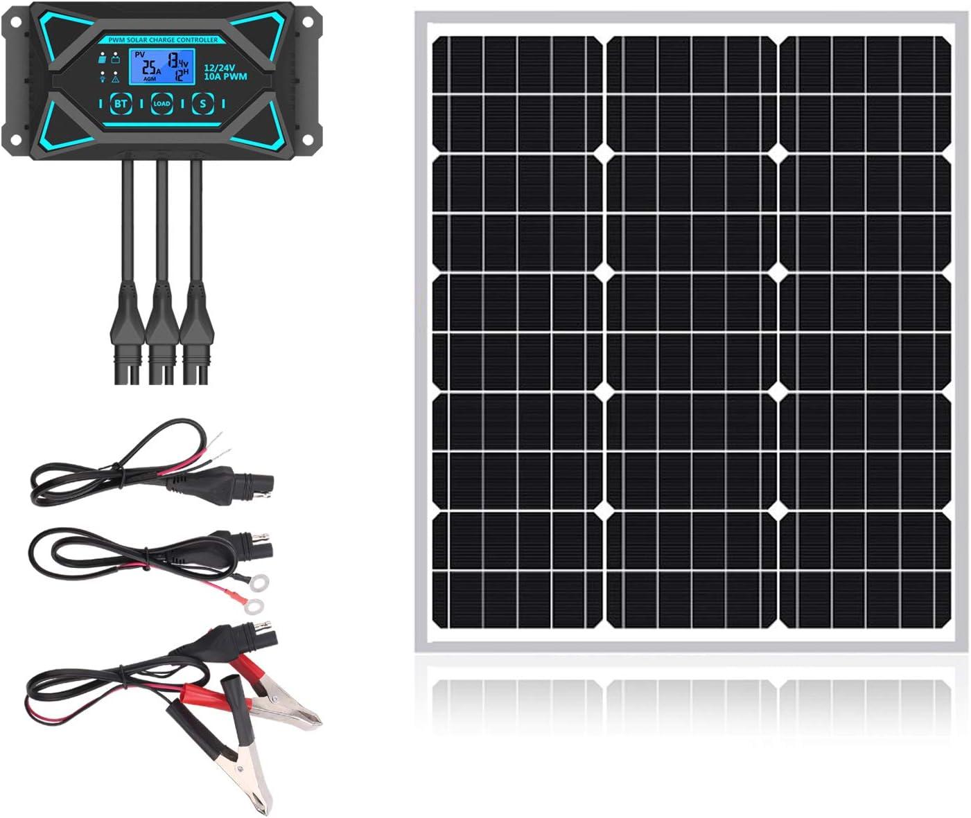 20W 12V Max 72% OFF Solar Panel Kits- 12 Watt Crystalline 20 outlet Mono Volt