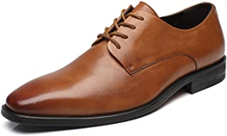 La Milano Mens Leather Updated Classic Cap Toe Oxfords Lace Dress Shoes Brown Size: 9.5